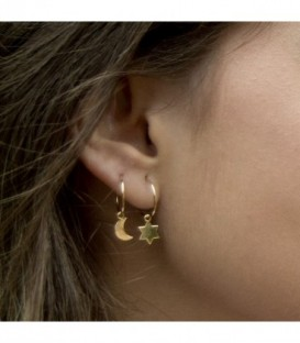 Charm hoops in 18K gold
