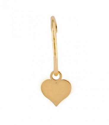 Aros corazon elige tu Charm en oro de 18K