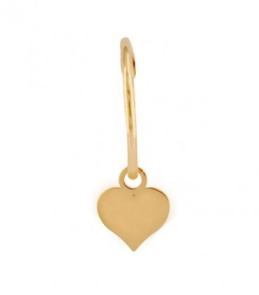 Heart hoops choose your charm in 18K gold