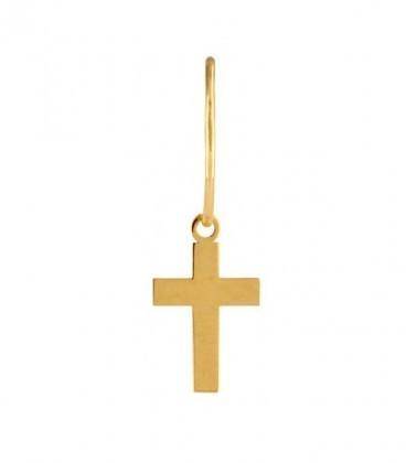 Aros cruz elige tu Charm en oro de 18K
