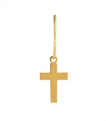 Cross earrings choose your Charm in 18K gold