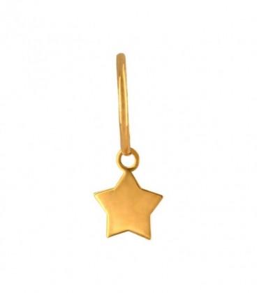 Aros estrella elige tu Charm en oro de 18K
