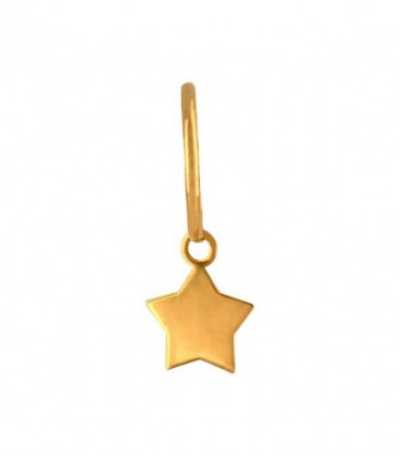 Star Hoops Choose Your Charm in 18K Gold