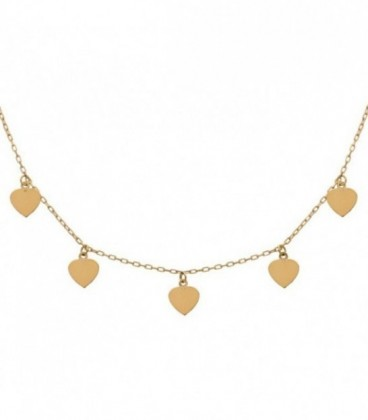 18k gold charm necklace