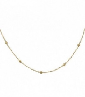 18k gold ball necklace