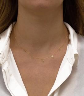 Ras-du-cou avec croix en or de 18K
