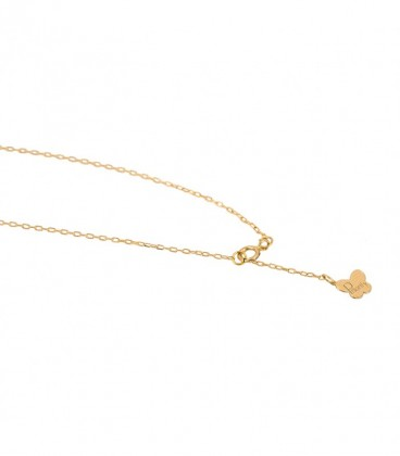 Adjustable gold cross bracelet