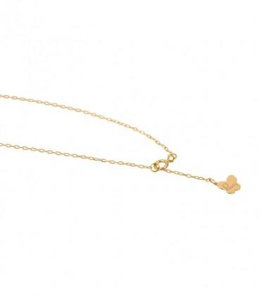 pulsera cruz oro ajustable