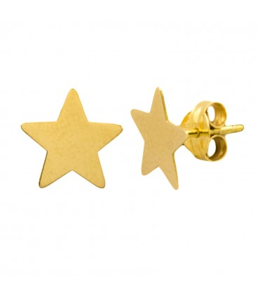 18k Gold Star Earrings