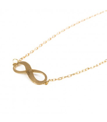 18k Gold Customizable Infinity Pendant