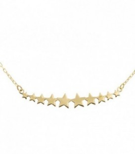 Necklace Stars Gold 18k