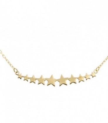 18k Gold Star necklace