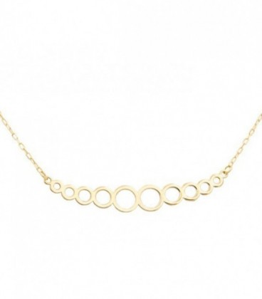 18k Gold Circles necklace