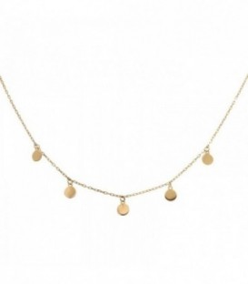 Necklace with Circles 18K gold