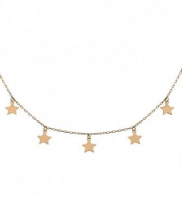 Ras-du-cou étoiles en or de 18K