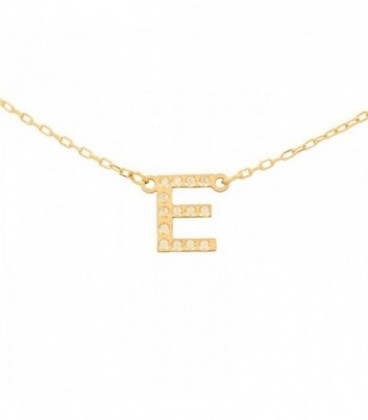 Initial Necklace with zirconia