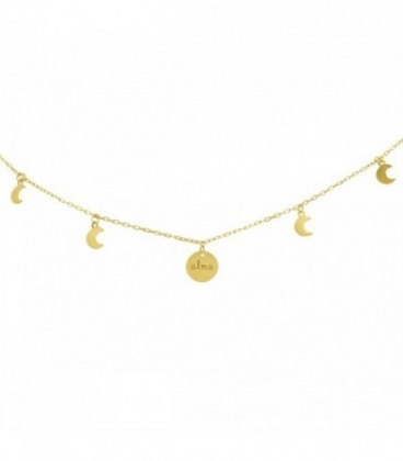 Gargantillas de oro con chapa personalizada y lunas