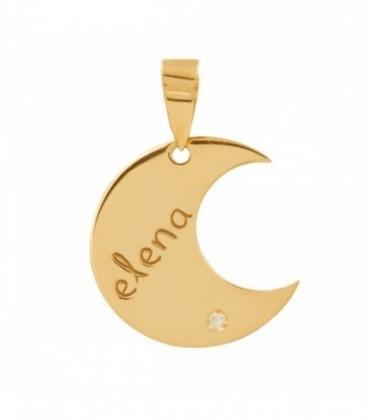 Customizable moon necklace and zirconia
