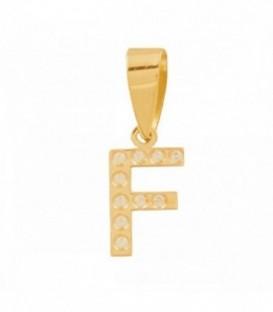 Initial pendant with zirconia set