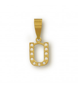 Initial pendant with zirconia set