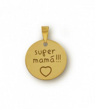 Customizable Super Mom Pendant