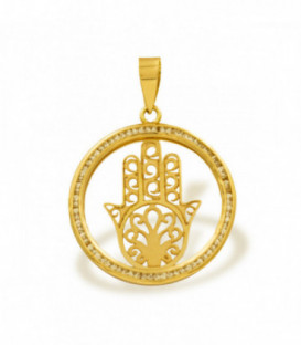 Hand of Fatima pendant with zirconias around