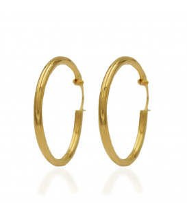 Large round tube hoop earrings