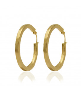 Large square tube hoop earrings