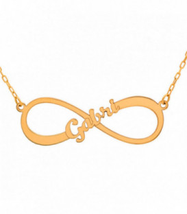 Infinite gold choker with name