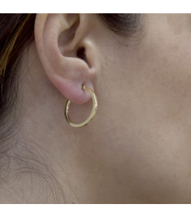 Large square tube hoop earrings