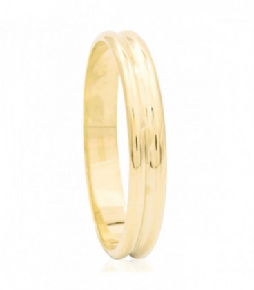 Yellow gold double wedding ring