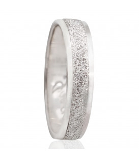 Alliances en or blanc de 18K