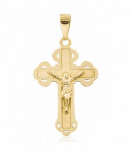 Colgante cruz de Trinidad con florituras