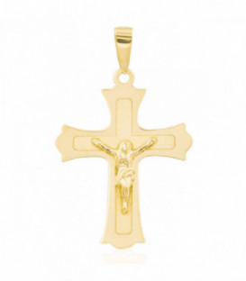 Trinity gold cross pendant