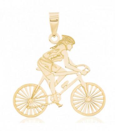 Cyclist woman pendant