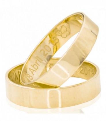 Alianza lisa de oro amarillo