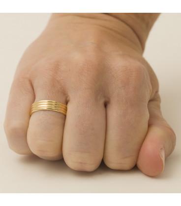Quadruple Half Round Wedding ring