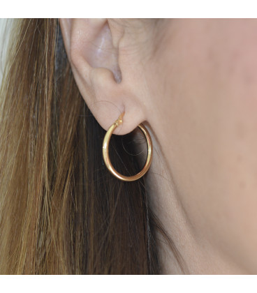 Round tube hoop earrings