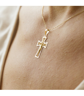 Pendentif double croix