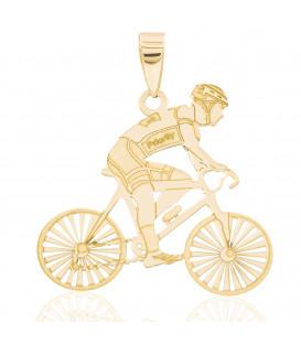 Colgante con hombre ciclista oro 18K
