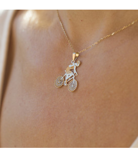 Pendentif homme cycliste or18kt