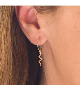 Hoop earrings with snake
