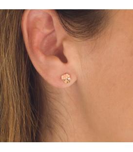 Boucles d'oreilles en or petit chien 18k