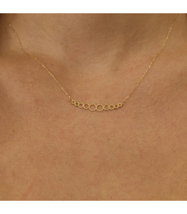 18k Gold Circles necklace