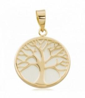 Pendentif arbre de vie en or avec nacre