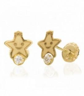 Boucles d'oreilles étoiles dorées