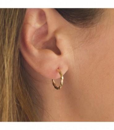 Galloneados Hoop Earrings - Wavy