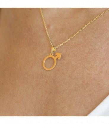 Male symbol pendant
