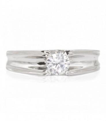 Engagement ring for Men in White Gold