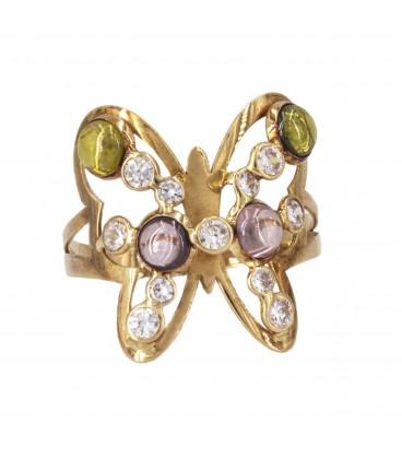 Sortija mariposa oro